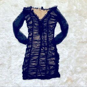 Windsor off shoulder sheer lace overlay Dress